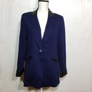 Susan Graver blue blazer (13-055)